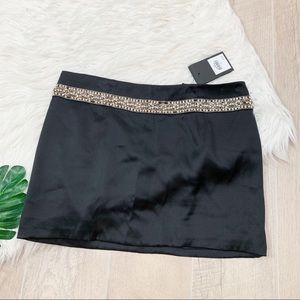 Bird Couture black beaded accent  mini skirt B1662
